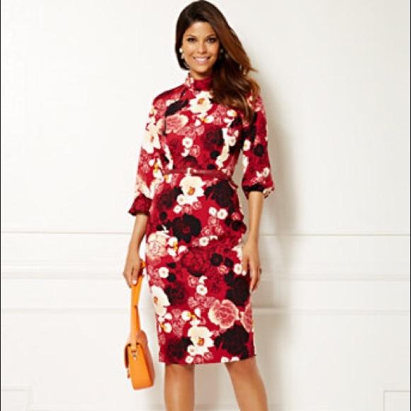 7e4910be3fd Eva Mendes New York   company Floral Dress. M 5a961429b7f72be99251c568
